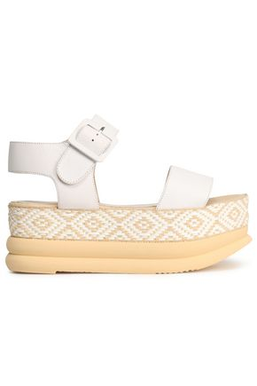 PALOMITAS by PALOMA BARCELÓ Talia leather and woven platform sandals