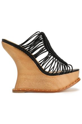 PALOMA BARCELÓ Macramé wedge sandals