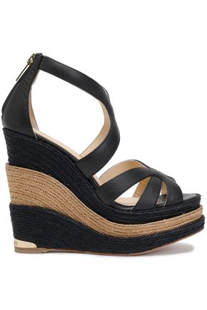 PALOMA BARCELÓ Leather wedge espadrille sandals