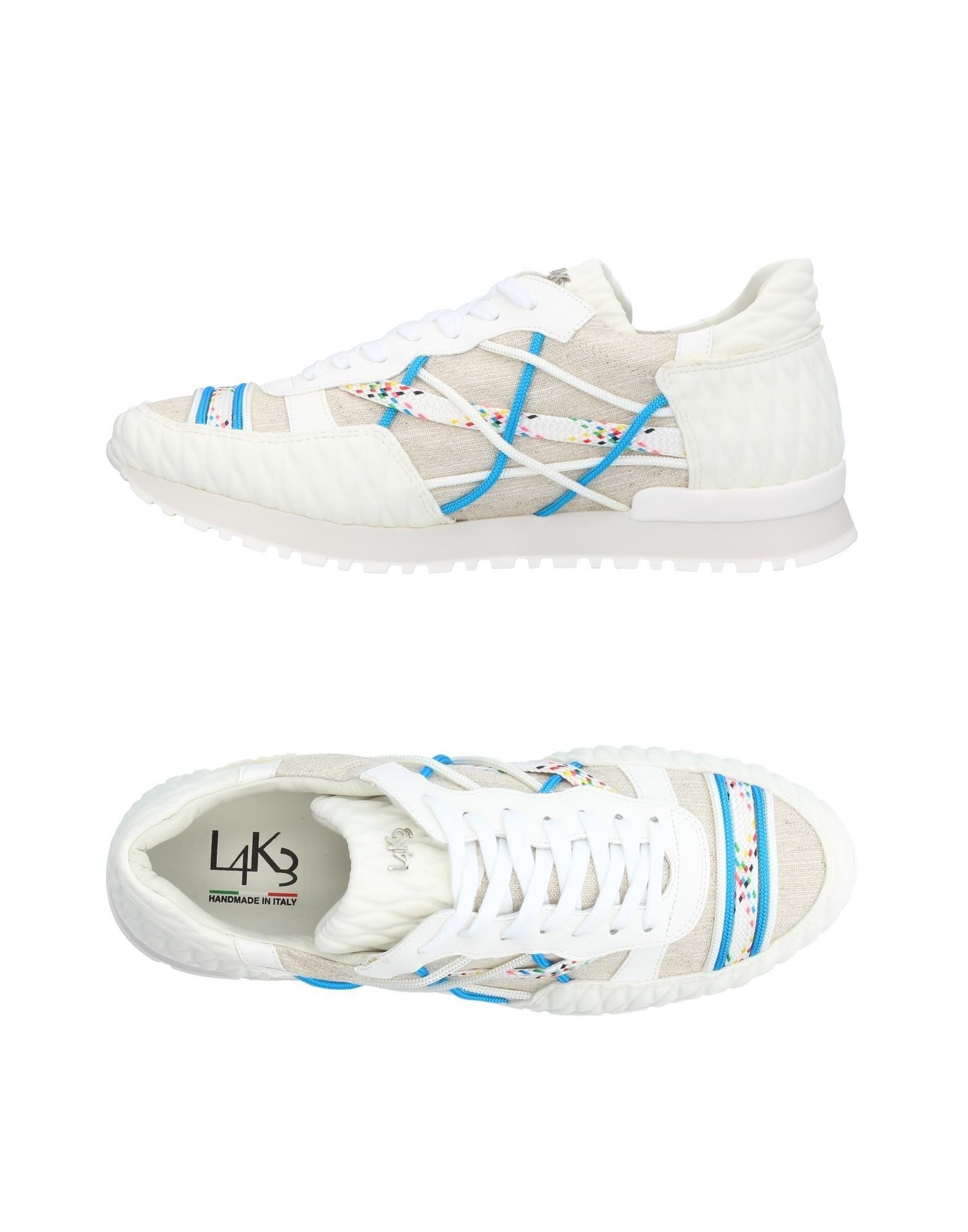 《送料無料》L4K3 メンズ スニーカー&テニスシューズ(ローカット) ホワイト 40 紡績繊維