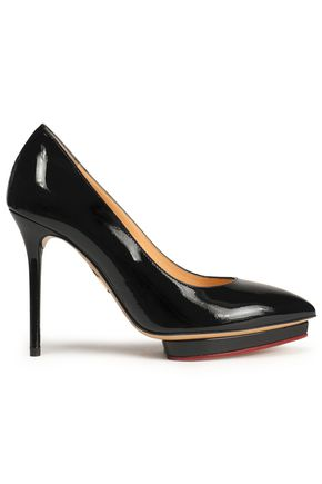CHARLOTTE OLYMPIA Patent leather platform pumps