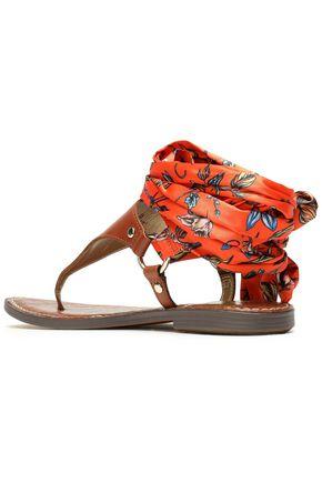 d2e3fc5d902 ... SAM EDELMAN Giliana leather and printed satin sandals