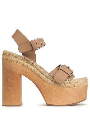 PALOMITAS by PALOMA BARCELÓ Buckled leather platform sandals