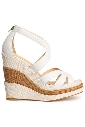 PALOMA BARCELÓ Leather espadrille wedge sandals