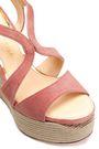 PALOMA BARCELÓ Suede espadrille wedge sandals