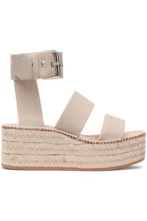 RAG & BONE Canvas platform espadrille sandals