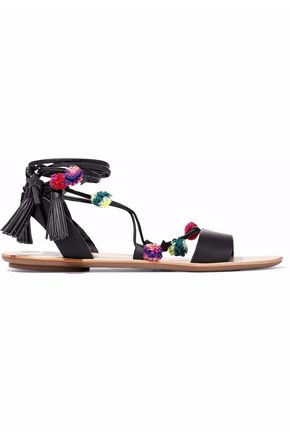 LOEFFLER RANDALL Embellished lace-up leather sandals