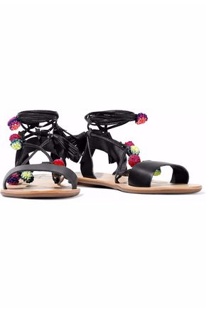 LOEFFLER RANDALL Suze lace-up embellished leather sandals