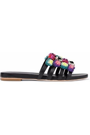 LOEFFLER RANDALL Embellished leather slides