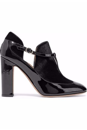 VALENTINO Patent-leather and velvet pumps