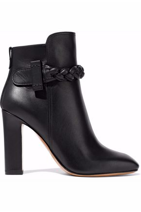 VALENTINO Braided leather ankle boots