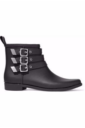 LOEFFLER RANDALL Buckled rubber rain boots