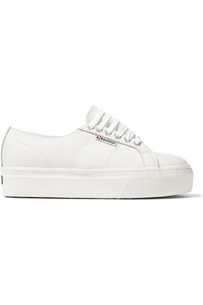 SUPERGA® Leather platform sneakers