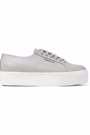 SUPERGA® Leather platform sneakers