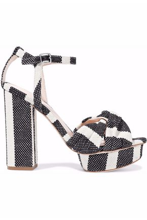 LOEFFLER RANDALL Arbella twisted striped canvas platform sandals
