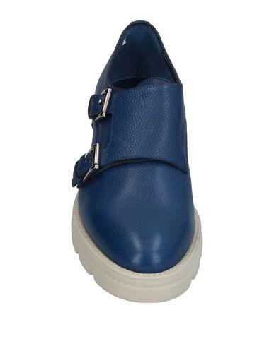 Фото 2 - Женские мокасины  синего цвета