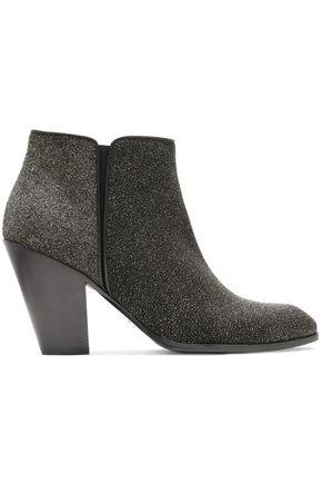 GIUSEPPE ZANOTTI DESIGN Glittered leather ankle boots