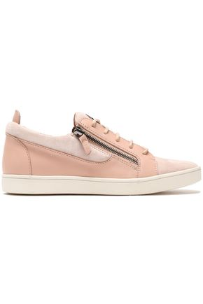 GIUSEPPE ZANOTTI DESIGN Suede and leather sneakers