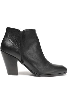 GIUSEPPE ZANOTTI DESIGN Textured-leather ankle boots