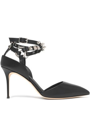 GIUSEPPE ZANOTTI DESIGN Stud-embellished leather pumps
