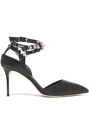 GIUSEPPE ZANOTTI DESIGN Stud-embellished leather pumps