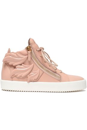 GIUSEPPE ZANOTTI DESIGN Embellished leather sneakers