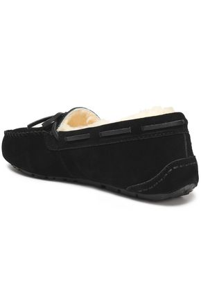 AUSTRALIA LUXE COLLECTIVE Prost leather-trimmed shearling moccasins