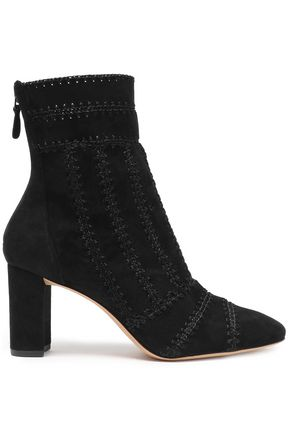 ALEXANDRE BIRMAN Whipstitched suede ankle boots