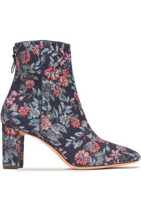 ALEXANDRE BIRMAN Floral-jacquard ankle boots