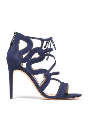 ALEXANDRE BIRMAN Cutout suede sandals