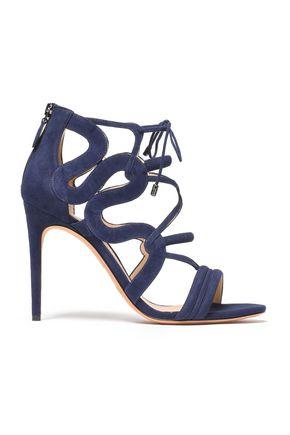 ALEXANDRE BIRMAN Cutout suede sandals