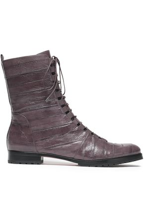 ALEXANDRE BIRMAN Glossed-leather ankle boots