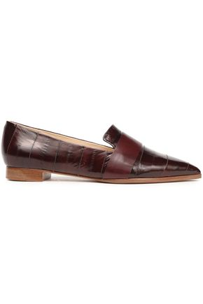 ALEXANDRE BIRMAN Glossed-leather slippers