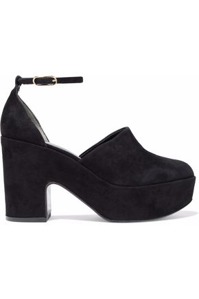 ROBERT CLERGERIE Suede platform pumps