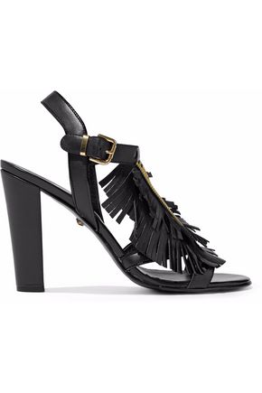 JUST CAVALLI Embellished leather sandals