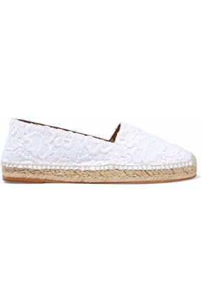 STELLA McCARTNEY Guipure lace and canvas espadrilles
