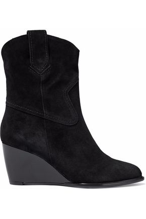 7dc8f41313ee ROBERT CLERGERIE Suede wedge ankle boots ...