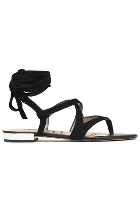 SAM EDELMAN Lace-up suede sandals