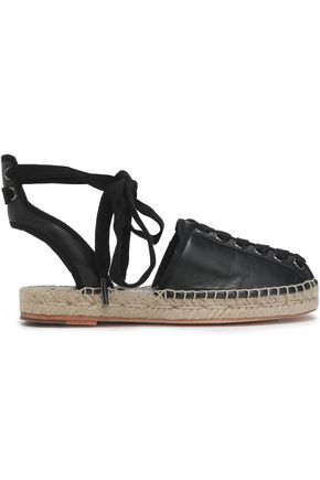 OPENING CEREMONY Lace-up leather espadrilles