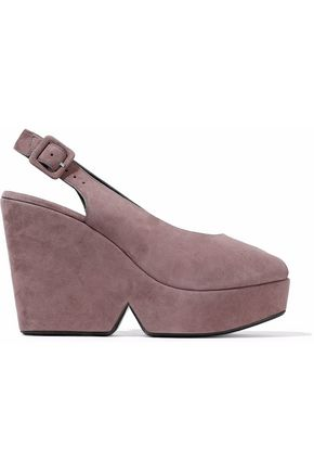ROBERT CLERGERIE Suede wedge sandals