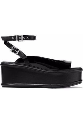 OPENING CEREMONY Gabriyela leather and patent-leather platform sandals