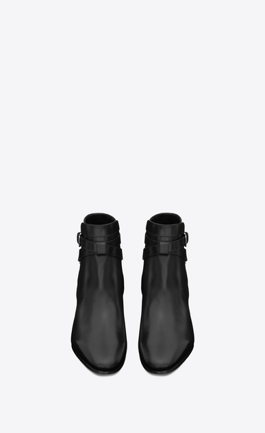 SAINT LAURENT Flat Booties Woman signature blake 40 jodhpur ankle boot in black leather b_V4