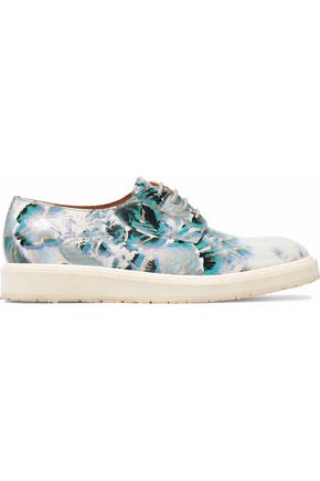 MAISON MARGIELA Floral-print leather brogues