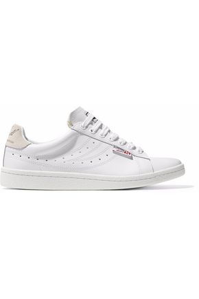 SUPERGA® Perforated leather sneakers