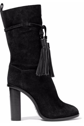 LANVIN Tasseled suede boots