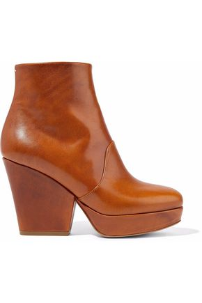 MAISON MARGIELA Leather platform ankle boots