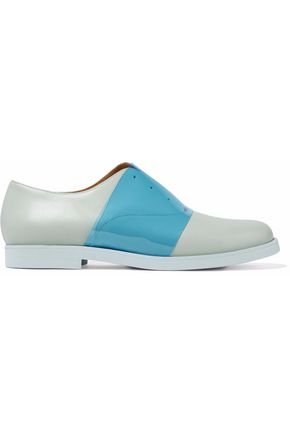 MM6 MAISON MARGIELA PVC-paneled leather brogues