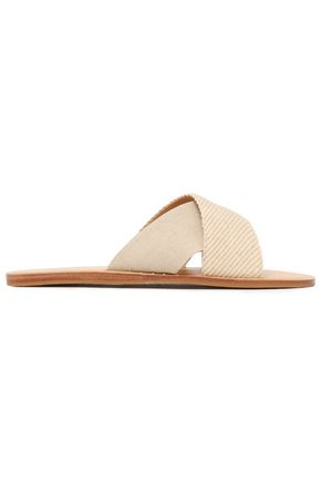 RAG & BONE Paneled canvas slides
