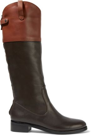 HALSTON HERITAGE Barbra two-tone leather boots