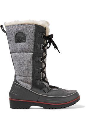SOREL Tivoli High paneled felt and suede boots